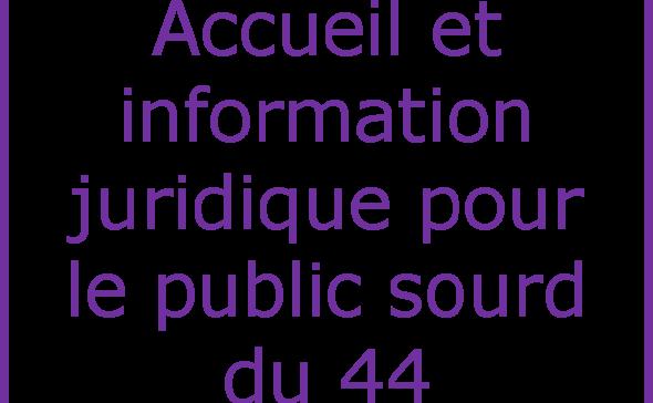 Logo Accueil et information juridique pour le public sourd du 44