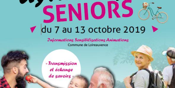 Semaine Dynamique Seniors du 7 au 13 octobre 2019 à Loireauxence Informations et sensibilisations animations - 3ème édition
