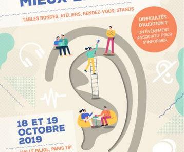 """Affiche du Congrès de Bucodes """"Ensemble pour mieux entendre"""" les 18 et 19 octobre 2019"""