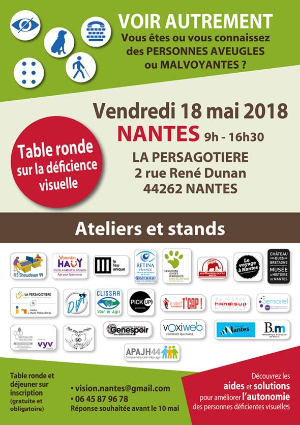 Affiche Journée Voir Autrement - Nantes 18 mai 2018