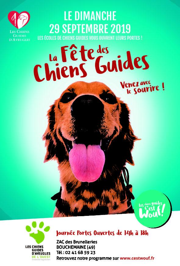 Journée Portes Ouvertes des Chiens Guides d'Aveugles de l'Ouest le 29 septembre 2019 14h-18h - ZAC des Brunelleries à Bouchemaine