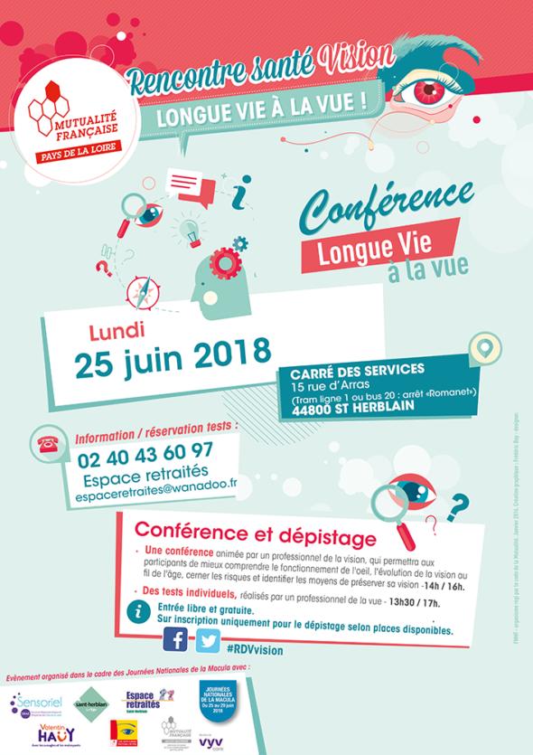 Affiche Longue Vie à la Vue St-Herblain 25 juin 2018