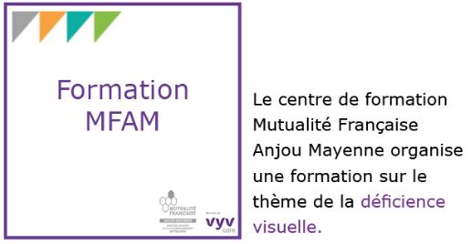 Le centre de formation MFAM organise une formation sur le thème de la déficience visuelle