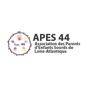 Logo APES 44, Association des parents d'enfants sourds de Loire Atlantique