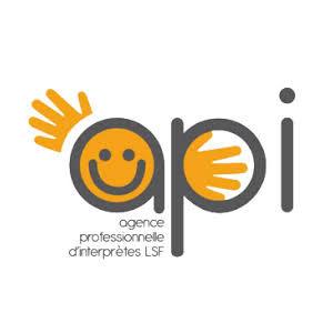 Logo API LSF, agence professionnelle d'interprètes LSF