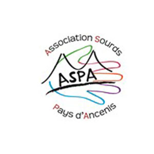 Logo ASPA, Association sourds pays d'ancenis
