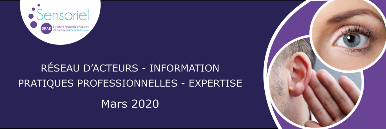 Bannière de présentation SRAE Sensoriel mars 2020