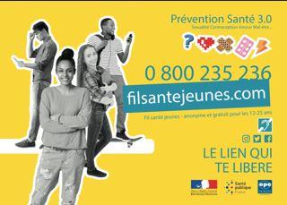 Prévention santé 3.0 - 0800 235 236 - Fil santé anonyme et gratuite pour les 12-25 ans -
