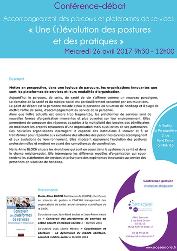 Conférence Débat - Accompagnement des parcours et plateformes de services - Une (r)évolution des postures et des pratiques