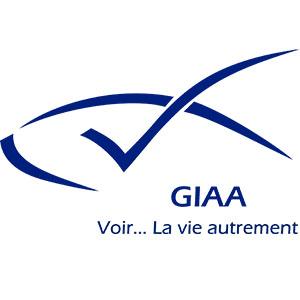 Logo GIAA, Groupement des Intellectuels Aveugles ou Amblyopes