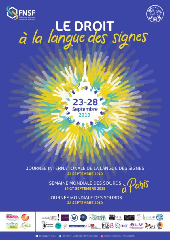 Journée Mondiale des Sourds du 23 au 28 septembre 2019 à Paris
