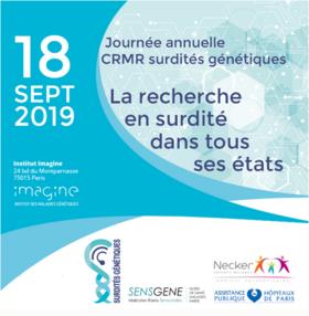 Journée la recherche en surdité dans tout ses états du 18 septembre 2019 à Paris