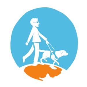 Logo ANMCGA, Association Nationale des Maîtres de Chiens Guides d'Aveugles
