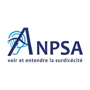 Logo ANPSA, Association nationale pour les personnes sourdAveugles, voir et entendre la surdicécité