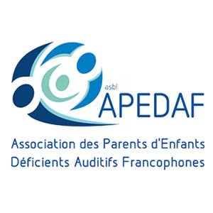 Logo APEDAF, L'Association des Parents d'Enfants Déficients Auditifs Francophone