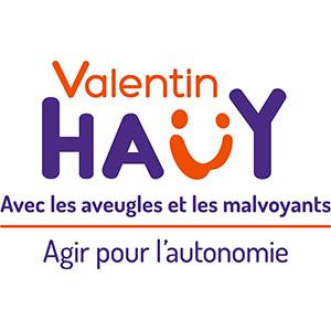Logo Association Valentin Hauy avec les aveugles et les malvoyants