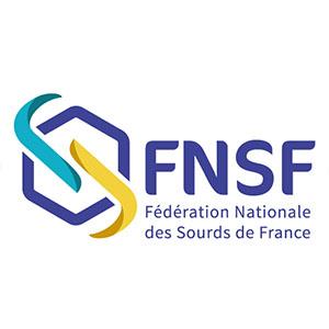Logo FNSF, Fédération Nationale des Sourds de France