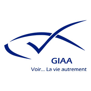 Logo GIAA, Groupement des Intellectuels Aveugles ou Amblyopes