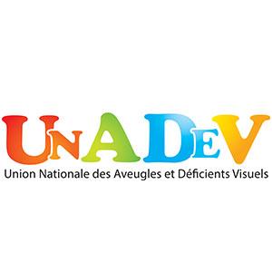 Logo UNADEV Union Nationale des aveugles et déficients visuels