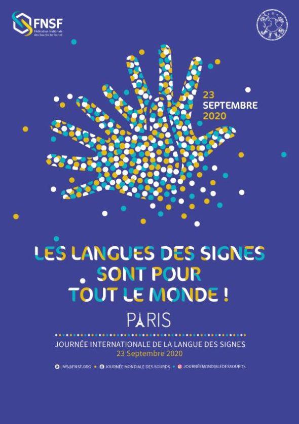 23 septembre 2020, Les langues des signes sont pour tout le monde, Paris, Journée internationale de la Langue des signes,