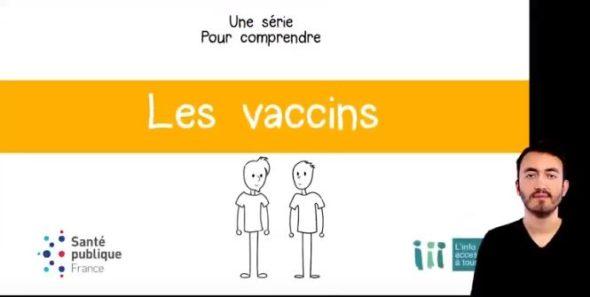 image vidéo Santé Publique France sur les vaccins